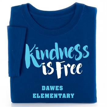 Kindness Is Free Youth Positive T-Shirt with Personalization