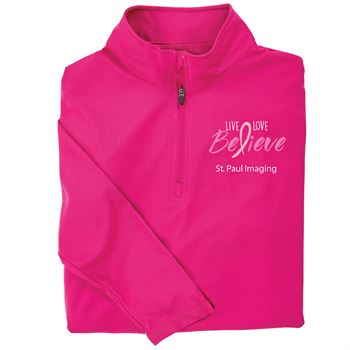 Live, Love, Believe Women's Performance Quarter-Zip Pullover - Personalized
