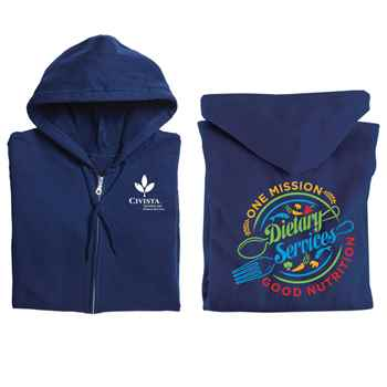 Dietary Services: One Mission, Good Nutrition Gildan® Full-Zip Hooded Sweatshirt - Personalized