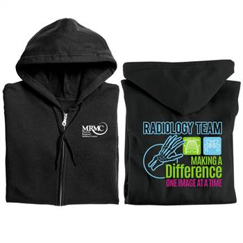Radiology Team: Making A Difference One Image At A Time Gildan® Full-Zip Hooded Sweatshirt - Personalized