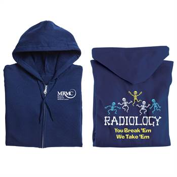 Radiology: You Break 'Em, We Take 'Em Gildan® Full-Zip Hooded Sweatshirt - Personalized
