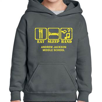 School Band Gildan® Heavy Blend™ Youth Hooded Sweatshirt - 1-Color Logo with Personalization