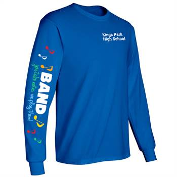 Band: You Takes Notes, We Play Them! Long-Sleeve Recognition T-Shirt - Personalized