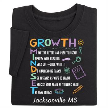 Growth Mindset Acrostic Positive Adult T-Shirt - Personalized