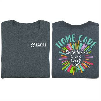 Home Care: Brightening Lives Every Day Two-Sided Short Sleeve T-Shirt - Personalized