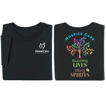 Hospice Care: Touching Lives, Lifting Spirits Two-Sided Short Sleeve T-Shirt