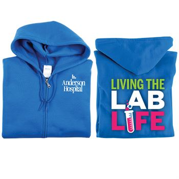Living The Lab Life Gildan® Full-Zip Hooded Sweatshirt