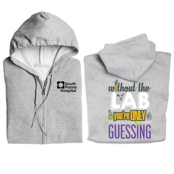 Without The Lab You're Only Guessing Gildan® Full-Zip Hooded Sweatshirt