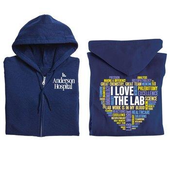 I Love The Lab Gildan® Full-Zip Hooded Sweatshirt