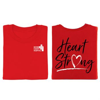 Heart Strong Awareness Red 2-Sided T-Shirts - Personalization Available