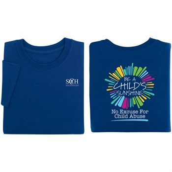 Be A Child's Sunshine Navy 2-Sided T-Shirt - Personalization Available