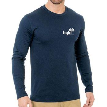 Bayside - Unisex Fine Jersey Long Sleeve Crewneck T-Shirt - Personalization Available
