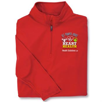 Get Pumped About Heart Health Red Performance Quarter-Zip Pullover - Personalization Available