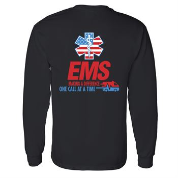 EMS Making A Difference One Call At A Time Two-Sided Long Sleeve T-Shirt - Personalization Available