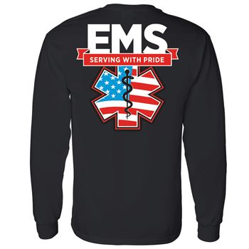 EMS Serving With Pride Two-Sided Long Sleeve T-Shirt - Personalization Available