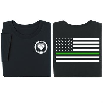 Thin Green Line Flag Short Sleeve T-Shirt - Personalization Available