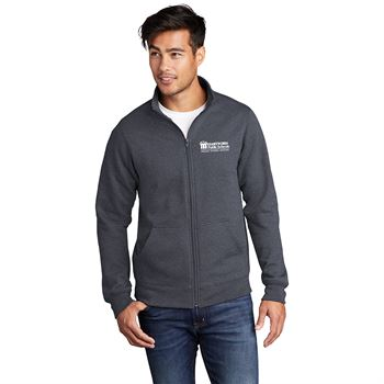 Port & Company® Unisex Core Fleece Cadet Full-Zip Sweatshirt - Personalization Available