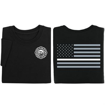 Thin White Line Flag Unisex Two-Sided Short Sleeve T-Shirt - Personalization Available