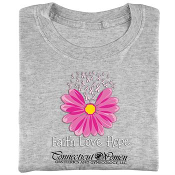 Faith, Love, Hope Awareness T-Shirt - Personalization Available