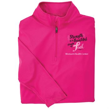 Strength Is A Beautiful Shade Of Pink Performance Quarter-Zip Pullover - Personalization Available