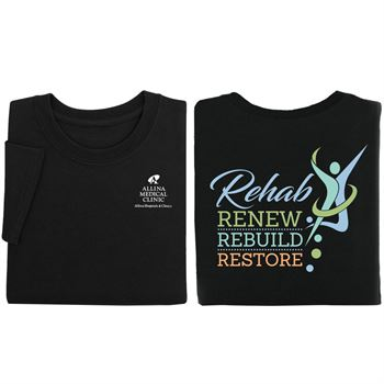 Rehab: Renew, Rebuild, Restore Two-Sided Short Sleeve T-Shirt - Personalized