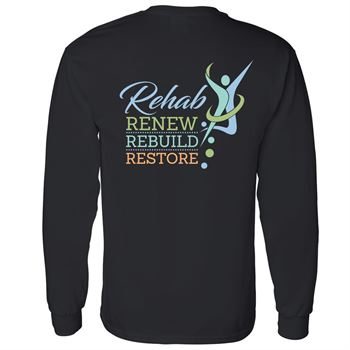 Rehab: Renew, Rebuild, Restore Two Sided Long Sleeve T-Shirt