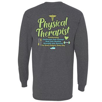 Physical Therapist: Transforming Challenges Two-Sided Long Sleeve T-Shirt - Personalized