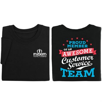 Proud Member Of An Awesome Customer Service Team Two-Sided T-Shirt - Personalization Available
