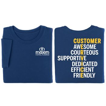 Customer Service Anagram Two-Sided - Personalization Available