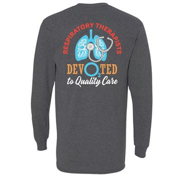 Respiratory Therapists: Dev02ted To Quality Care Two-Sided Long Sleeve T-Shirt - Personalization Available