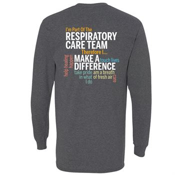 Respiratory Care Team Word Cloud Two-Sided Long Sleeve T-Shirt - Personalization Available