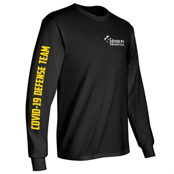 Long Sleeve T-Shirts With Sleeve & Chest Decoration - Personalization Available
