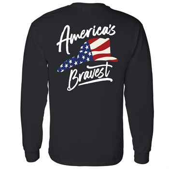 America's Bravest 2-Sided Long Sleeve T-Shirt - Personalized