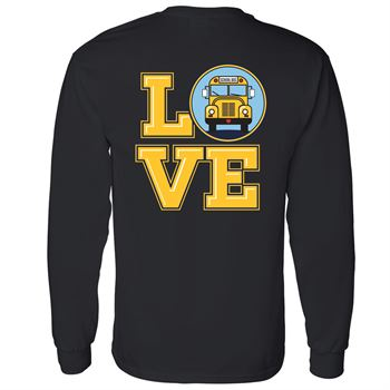 Love Bus Positive Long Sleeve T-Shirt - Personalization Available