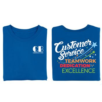 Customer Service Teamwork Dedication Excellence 2-Sided T-Shirt - Personalized