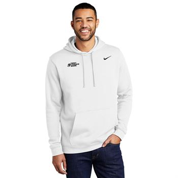 Nike Club Pullover Fleece Hoodie - Screenprint Personalization Available