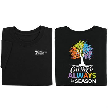 Caring Is Always In Season Personalized Positive 2-Sided T-Shirt