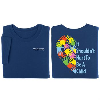 It Shouldn't Hurt To Be A Child Navy 2-Sided T-Shirt - Personalization Available