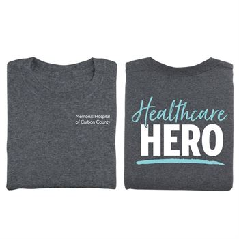 Healthcare Hero Two-Sided Unisex Short Sleeve T-Shirt - Silkscreened Personalization Available
