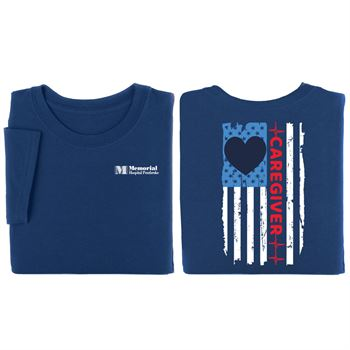 Caregiver w/Flag 2-Sided T-Shirt - Personalization Available