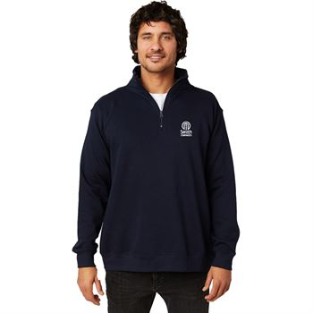Positive Wear Unisex Essential Quarter-Zip - Cadet Collar Pullover- Silkscreen Personalization Available