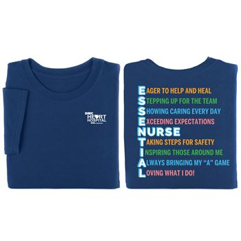 Essential Nurse Positive 2-Sided T-Shirt - Personalization Available