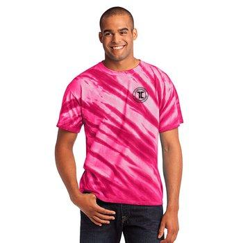 Port & Company® Unisex Tie Dye Tiger Stripe T-Shirt- Silkscreen Personalization Available