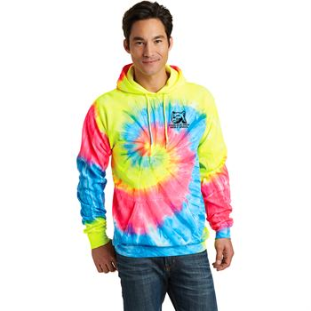 Port & Company® Unisex Tie-Dye Pullover Hooded Sweatshirt- Silkscreen Personalization Available