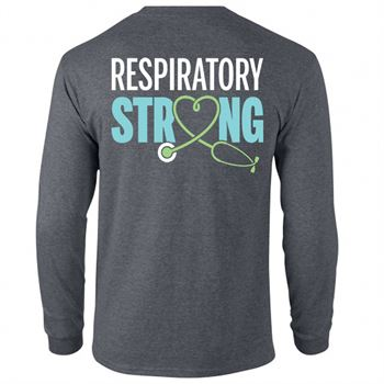 Respiratory Strong Two-Sided Long-Sleeve T-Shirt
