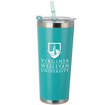 Olympus Stainless Steel Tumbler With Straw 20-Oz. - Personalization Available