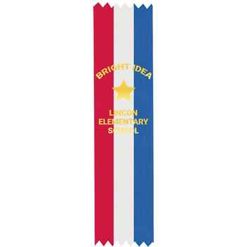 Custom Gold Foil-Stamped Red/White/Blue Satin Ribbon - Personalization Available