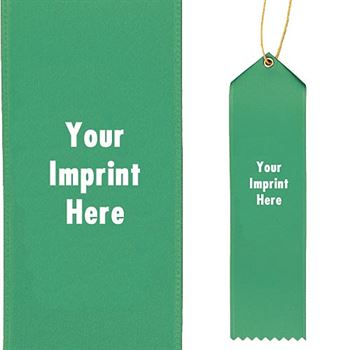 Imprintable Satin Ribbon With Presentation Card - Personalization Available