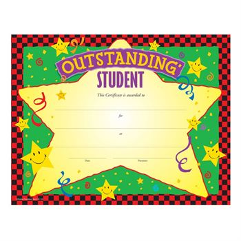 Outstanding Student Gold Foil-Stamped Certificates