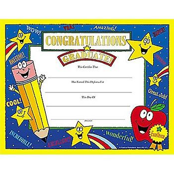 Congratulations Graduate! Gold Foil-Stamped Certificates - Pack of 25